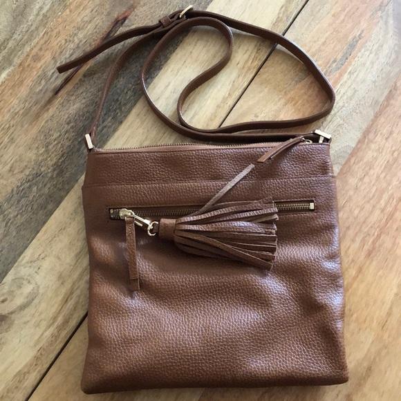 a5ea0fd034 Halogen Handbags - Halogen Tasseled Leather Crossbody Bag